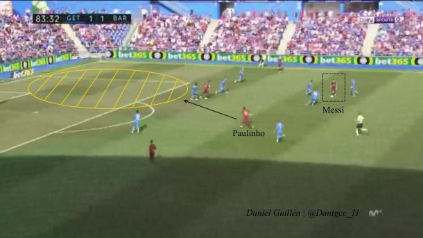 Paulinho y Messi, los jugadores clave en el segundo gol | Foto: Daniel Guillén - Live TV