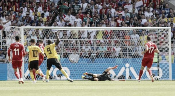 Lukaku marca seu primeiro gol da partida (Fonte:Getty Images)