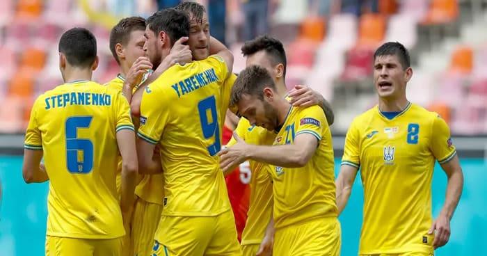 La selección Ucraniana celebrando un gol / Foto: UEFA.com