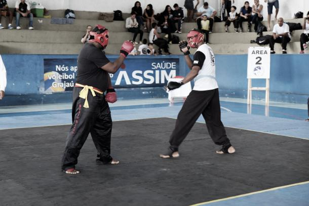 Lutas de semi-contato também estiveram presentes no Campeonato Estadual de Kung FU Wushu (Foto: Marcos Antônio Ribeiro)