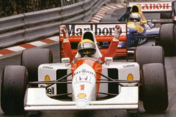 Ayrton Senna, uno de los nombres ilustres del Gran Premio de Mónaco. Imagen: thegentlemansjournal.com