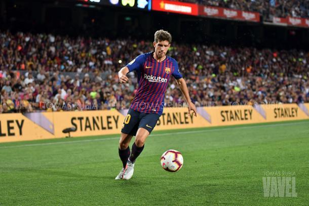 Imagen de archivo de Sergi Roberto, jugador del Barça. FOTO: Tomás Rubia