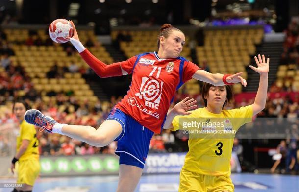 Kristina Liscevic con la elástica de su selección. Foto: Gettyimages