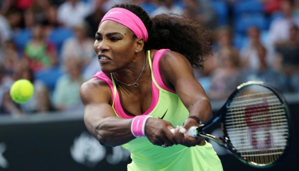 Serena Williams en Melbourne. Foto: wtatennis