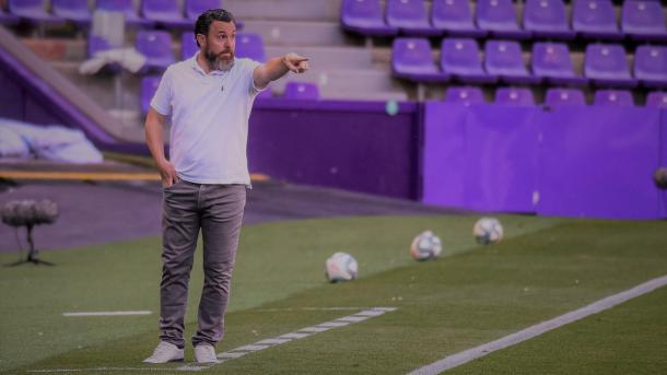 Sergio González durante un partido después del parón del Covid-19. | Foto: Real Valladolid