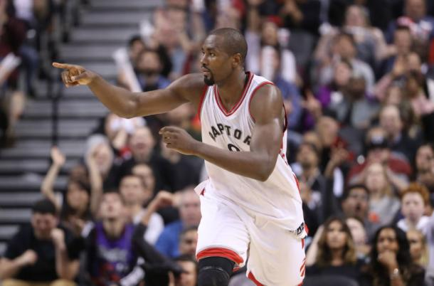 The Raptors' key midseason acquistion was indeed Serge Ibaka. Photo: Tom Szczerbowski-USA TODAY Sports
