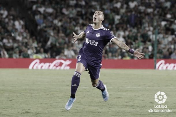 Sergi Guardiola celebrando el gol / Foto: LaLiga Santander