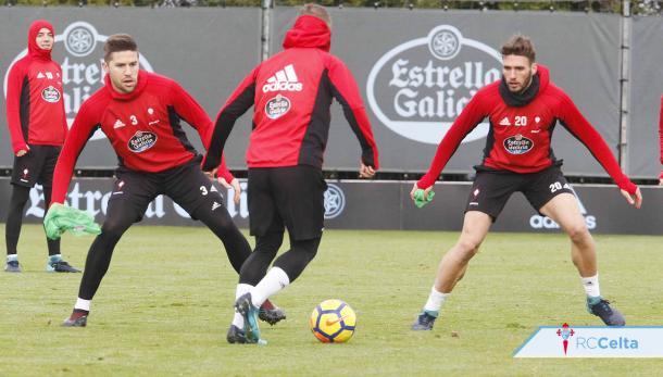 Los jugadores del Celta durante un entrenamiento| RC Celta