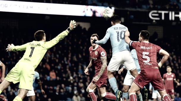 Agüero salvó al City de la caída ante Bristol | Foto: Manchester City