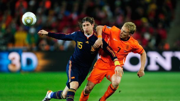 Sergio Ramos en aquella final contra Holanda / Foto: FIFA