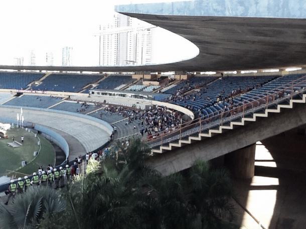 Panorama da torcida presente no estádio Serra Dourada. Foto: Divulgação/Atlético Clube Goianiense