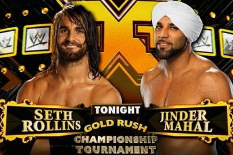 Mahal battled Rollins to become the first ever NXT Champion in 2012 (image: bleacher report)