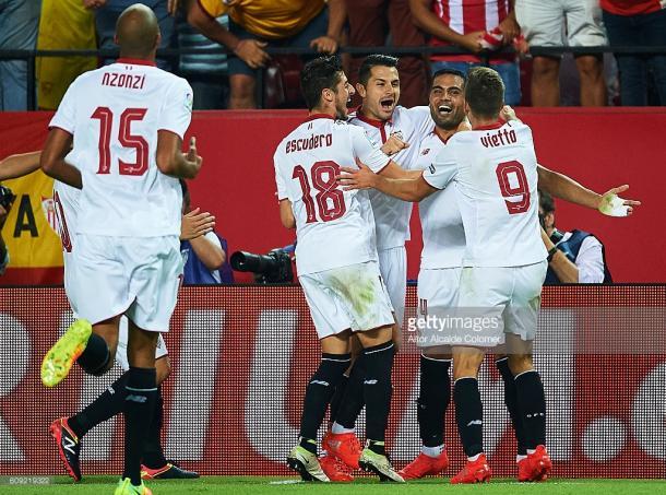 Sevilla will be quite a test for the Premier League champions | Photo: Getty/ Aitor Alcalde Colomer