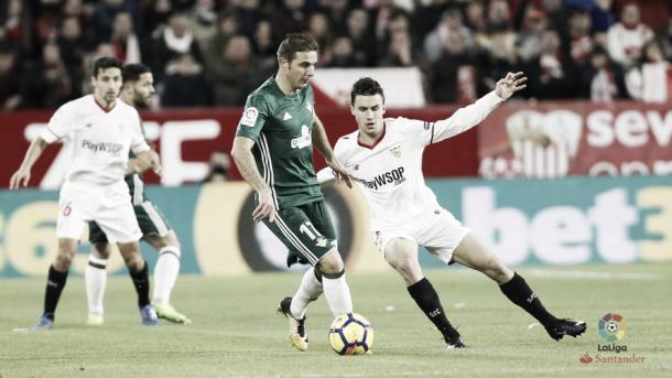 Un momento del partido ante el Real Betis Balompié | Foto: LaLiga