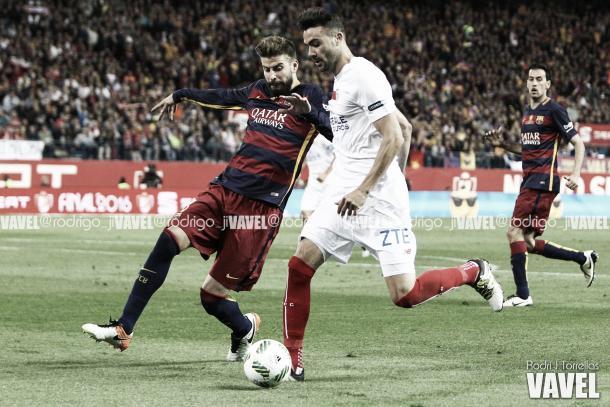 Sevilla perdeu o jogo na prorrogação, por 2x0 (Foto: Vavel)