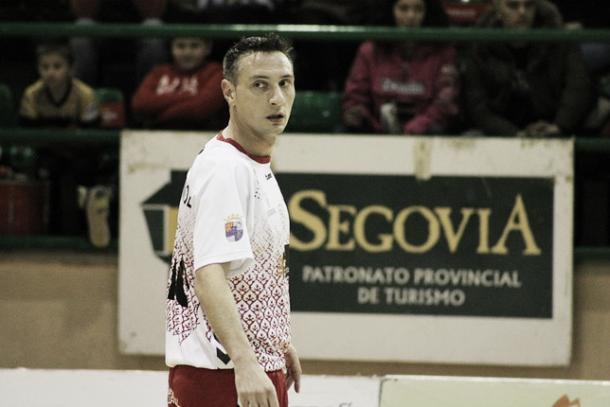 Carlos Muñoz durante un partido con el Naturpellet | Foto El día de Segovia