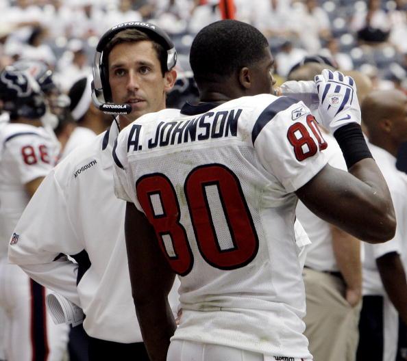 Shanahan em sua passagem nos Texans (Foto: Bob Levey/Getty Images)