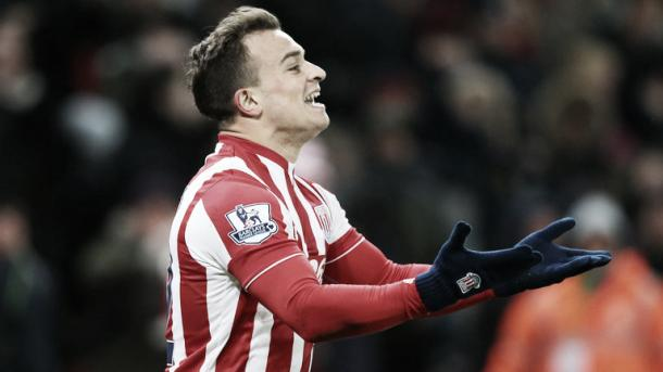 Xherdan Shaqiri has scored three goals and assisted five in 23 Premier League appearances this season. | Photo: Getty Images