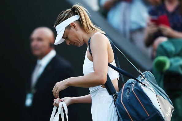 Sharapova despede-se de Wimbledon com uma derrota dura no primeiro round (Foto: Clive Brunskill/Getty Images)
