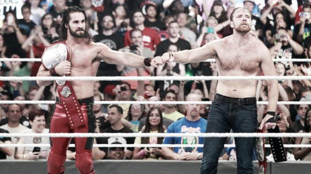 Rollins and Ambrose were back to their best. Photo-WWE.com