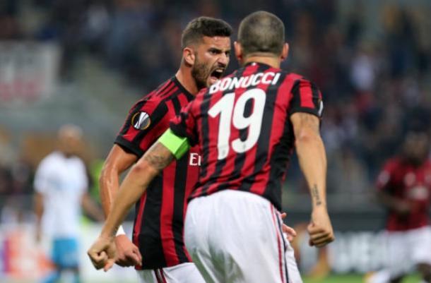 Musacchio e Bonucci comemoral gol (Foto: Marco Canoniero/LightRocket via Getty Images)