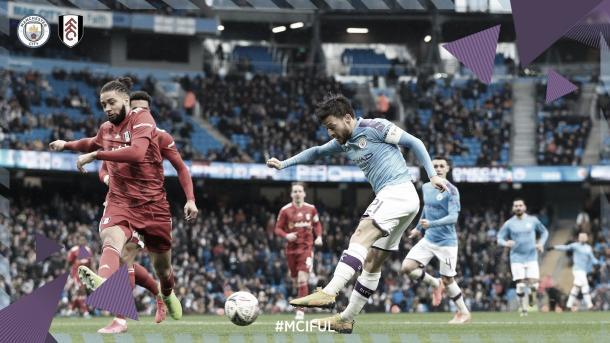 David Silva busca el gol./ Foto: Manchester City