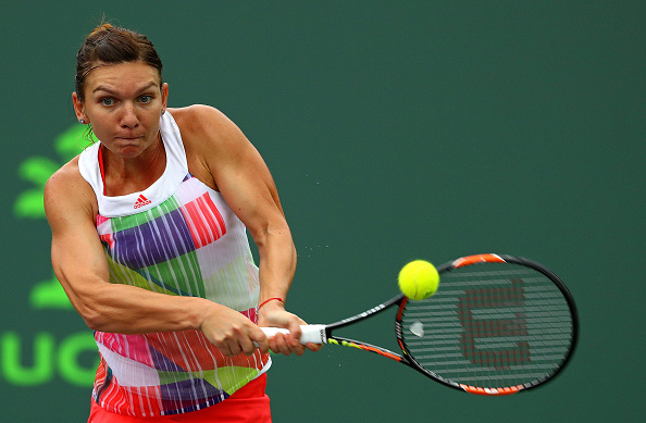 Simona Halep During The Match. Photo: Mike Ehrmann/Getty Images