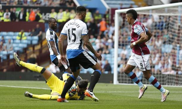 Scott Sinclair has a shot saved against Newcastle (photo; Shutterstock)