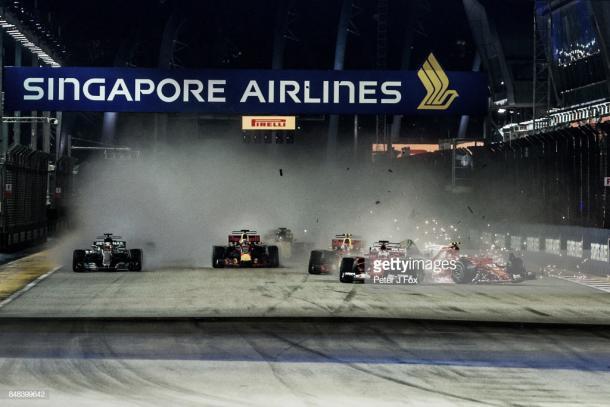 Salida del GP de Singapur 2017 | Fuente: Getty Images