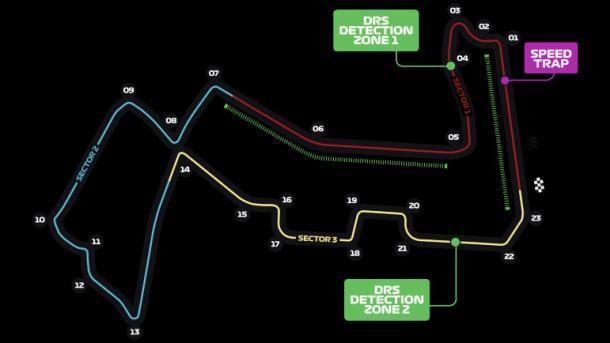 Circuito de Singapur | Fuente: Fórmula 1