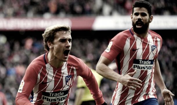 Griezmann y Costa le dieron la clasificación a su equipo ante el Arsenal. | Foto: Prensa Atlético Madrid