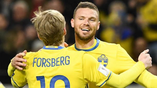 Forsberg y Berg, las figuras de Suecia Foto: Sky Sports