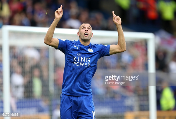 Record signing Islam Slimani is again missing for the Foxes | Photo: Getty/ Plumb Images