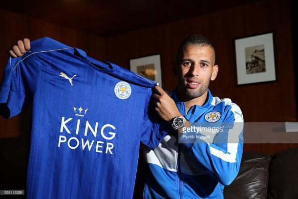 Islam Slimani signed for Leicester City in a record deal on deadline day | Photo: Getty/ Plumb Images