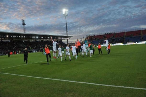 Pordenone celebra al final del partido   Foto: Pordenone Calcio