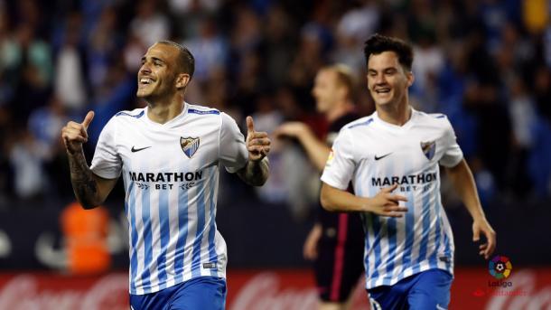 La victoria ante el Barcelona fue el claro ejemplo de que el mejor Málaga de toda la temporada había llegado / Imagen: LaLiga