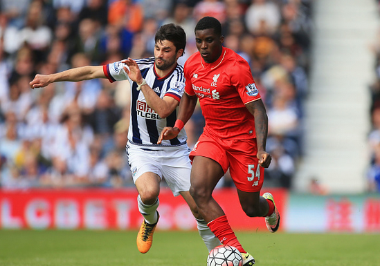 Ojo featured in Liverpool's final fixture of the 2015/16 campaign, away at The Hawthorns. | Photo: Getty