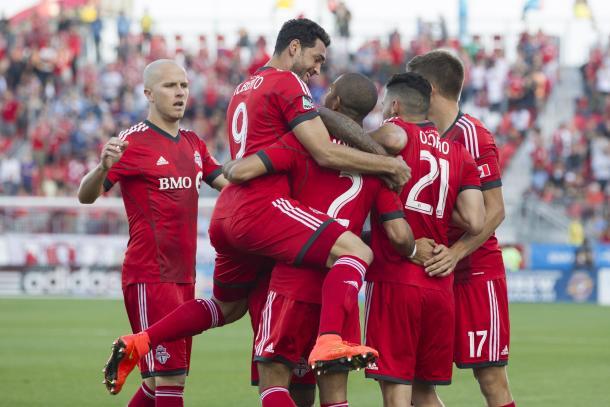 Toronto celebrando un gol. // Imagen: Toronto FC