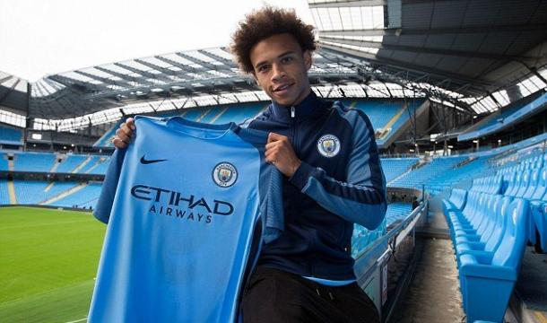 Sane completed his move to Manchester City this week. | Source: sofa score