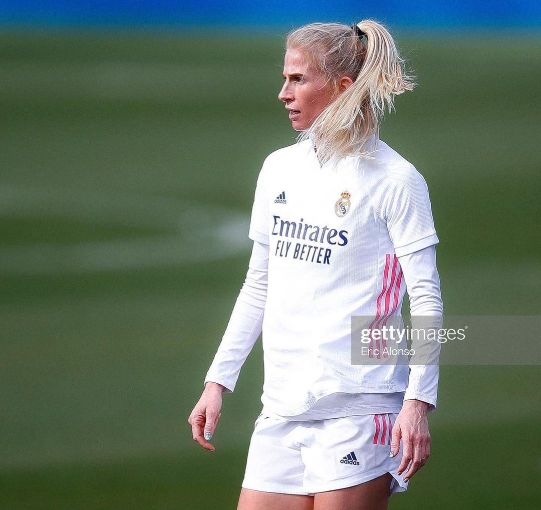 Sofía Jakobsson, jugadora del Real Madrid.  Foto: @sofiajakobsson