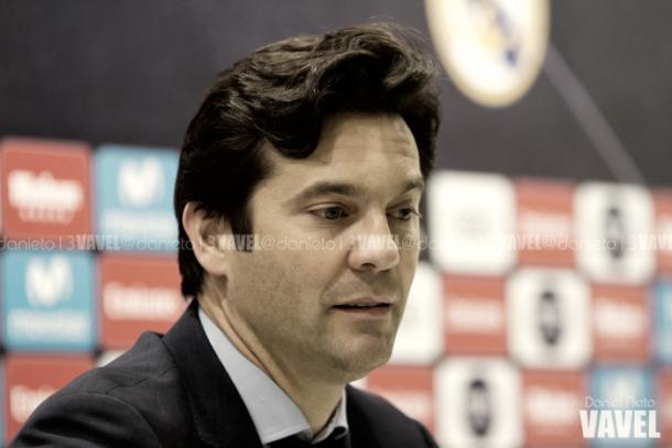 Santiago Solari, técnico del Madrid, ante la prensa | Foto: VAVEL