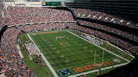 Soldier Field durante un partido de los Chicago Bears. Fuente: ESPN