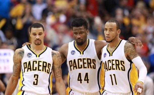 Pacers guards George Hill, Monta Ellis and Solomon Hill need to come out strong for Game 6. Source: Fansided