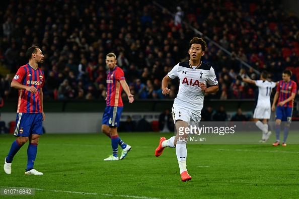 Son is in superb form, will be start as the striker? (photo; Getty Images)