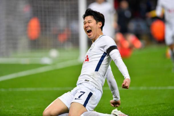 Son foi o melhor jogador do Tottenham na partida (Foto: NurPhoto via Getty Images)
