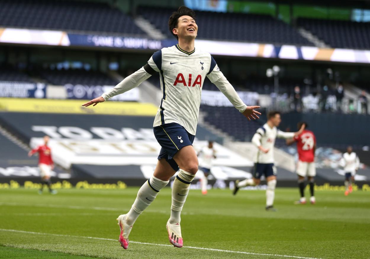 Son celebrando su gol / Foto: Tottenham