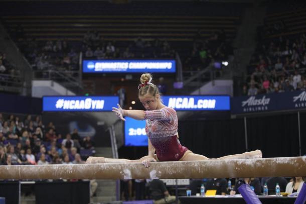 Nicole Lehrman on beam Pic: Melissa Perenson