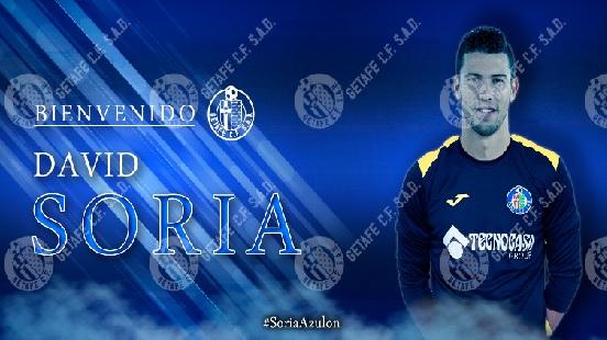 David Soria ficha por el Getafe C.F. Fuente: Getafe C.F.