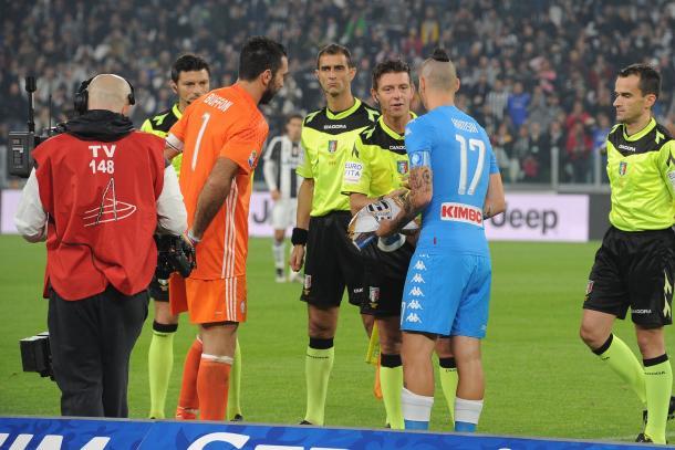 Sorteo del Juventus 2-1 Napoli / Foto: SSC Napoli