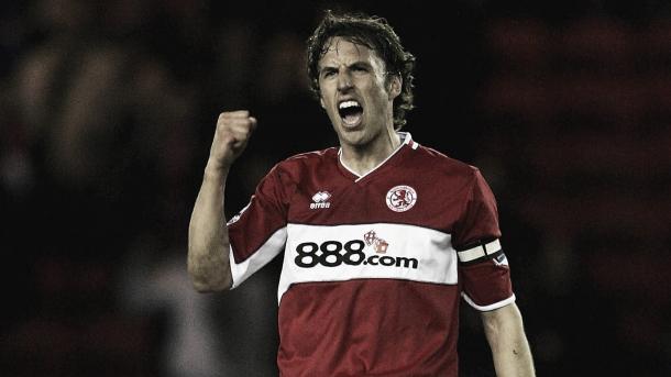 Southgate durante su etapa como futbolista | Foto: Middlesbrough
